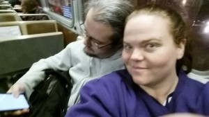 hubs and me on the BART